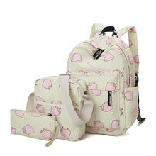 mochilas escolares femininas european school backpack sets printed kids shoulder school bag