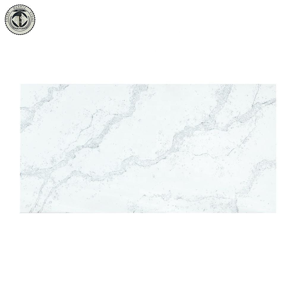 Calacatta Italia Super blanco al por mayor de piedra de cuarzo losa encimera de cuarzo para la Mesa de la cocina
