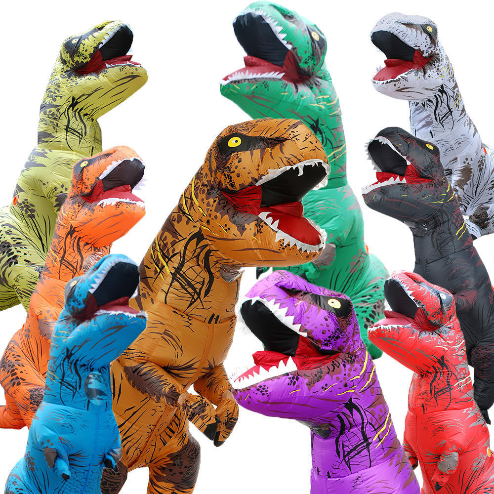 Wholesale Inflatable Halloween Big Size Deluxe Air Blown Up Walking T-REX dinosaur costume
