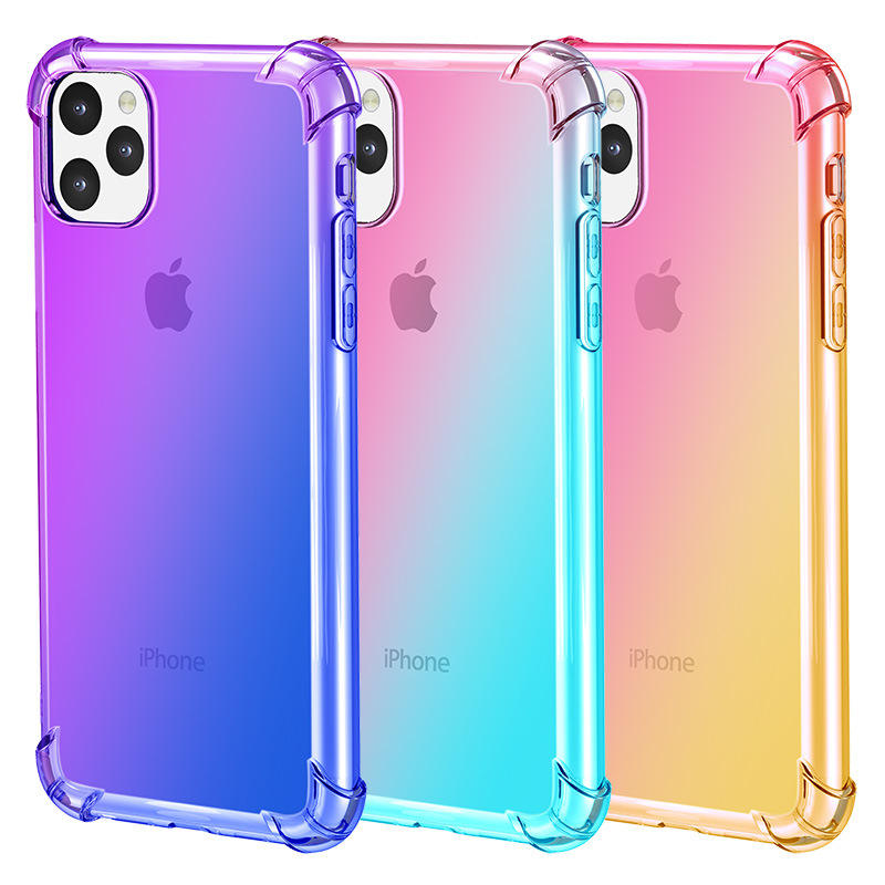 1,5 MM TPU Stoßfest Farbwechsel <span class=keywords><strong>Handy</strong></span> Fall Für Iphone 2019 11 11 pro 11 pro max 5,8 6,1 6,5