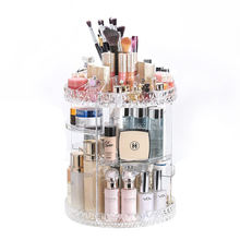 Makeup Organizer Adjustable Multi-Function Acrylic Cosmetic Storage 360 Rotating makeup organizer
