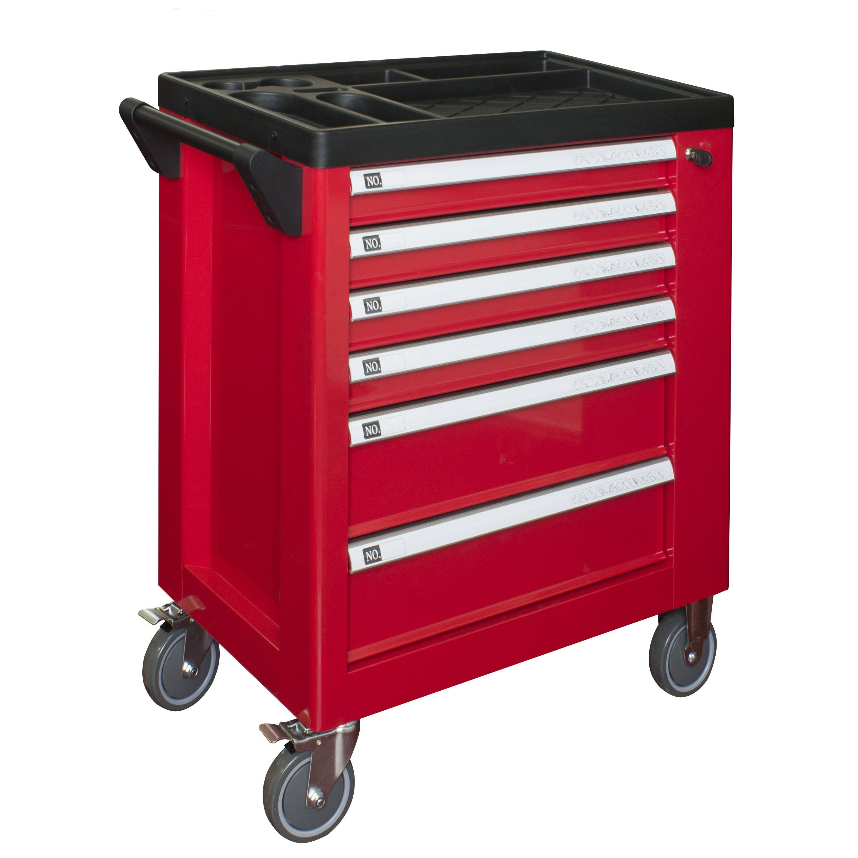 2015 new desgin professional steel box / tool trolley with stainless top and 220pcs tools