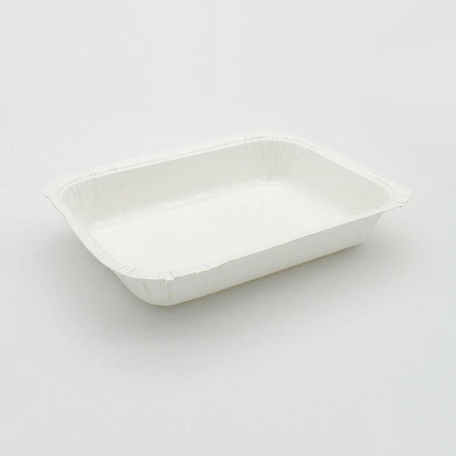 White High Heat Resistance Oven Paper Food Tray Airplane Meal Container