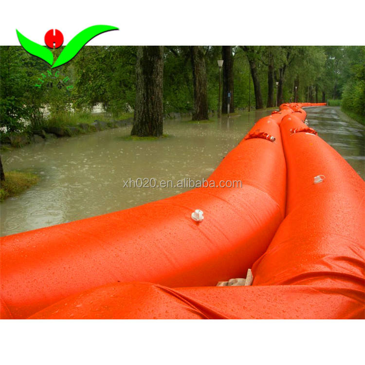 Convenient portable Inflatable water barrier durable Inflatable Dams on sale door flood barrier