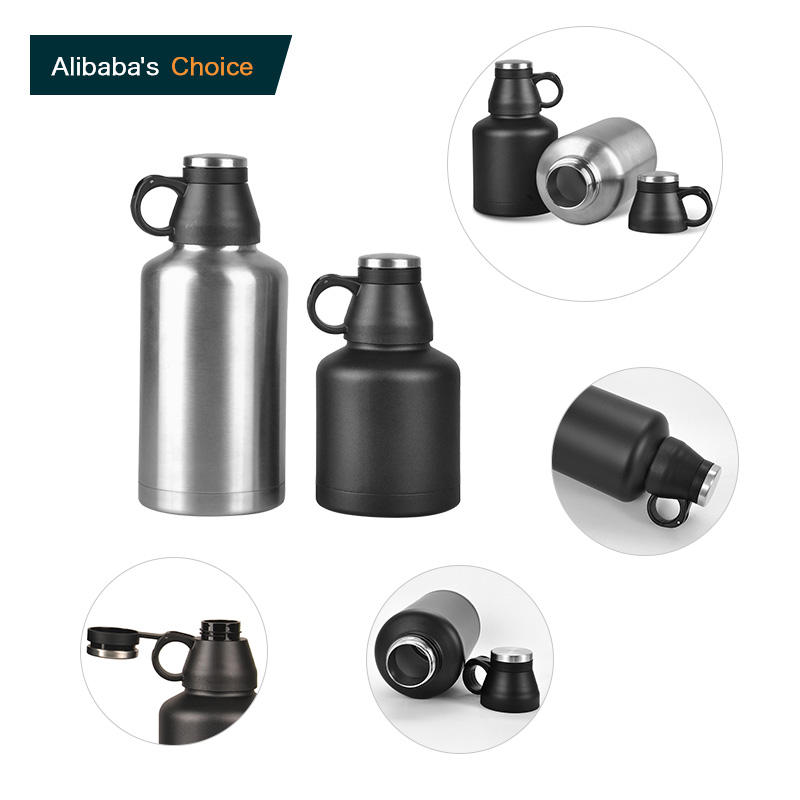 Big Capacity Metal Body Drinking Bottle Lids For Hiking Travel Thermo Wine Tumbler Stopper Plastic Bottle Cap