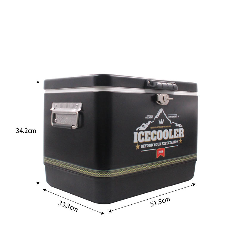 Wholesale 2-in-1 BBQ grill pinnacle 54L mini cooler box beer round barrel beverage cooler with wheels