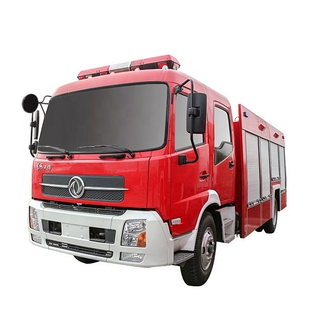 Diesel Engine 6 Wheel Dongfeng 6000kg Water Fire Brigade Truck 6tons inflatable bouncer fire truck