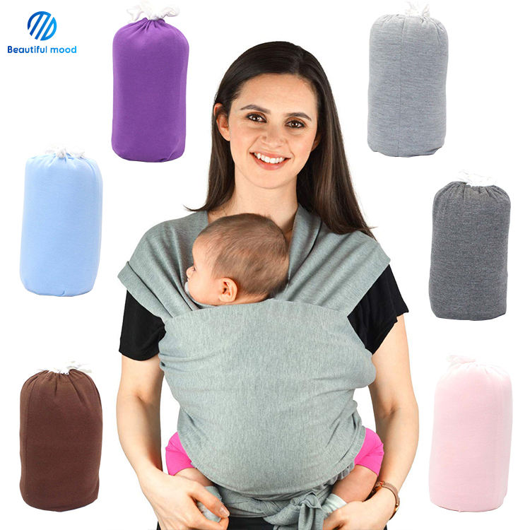 Best quality soft cotton baby sling wrap carrier with private logo