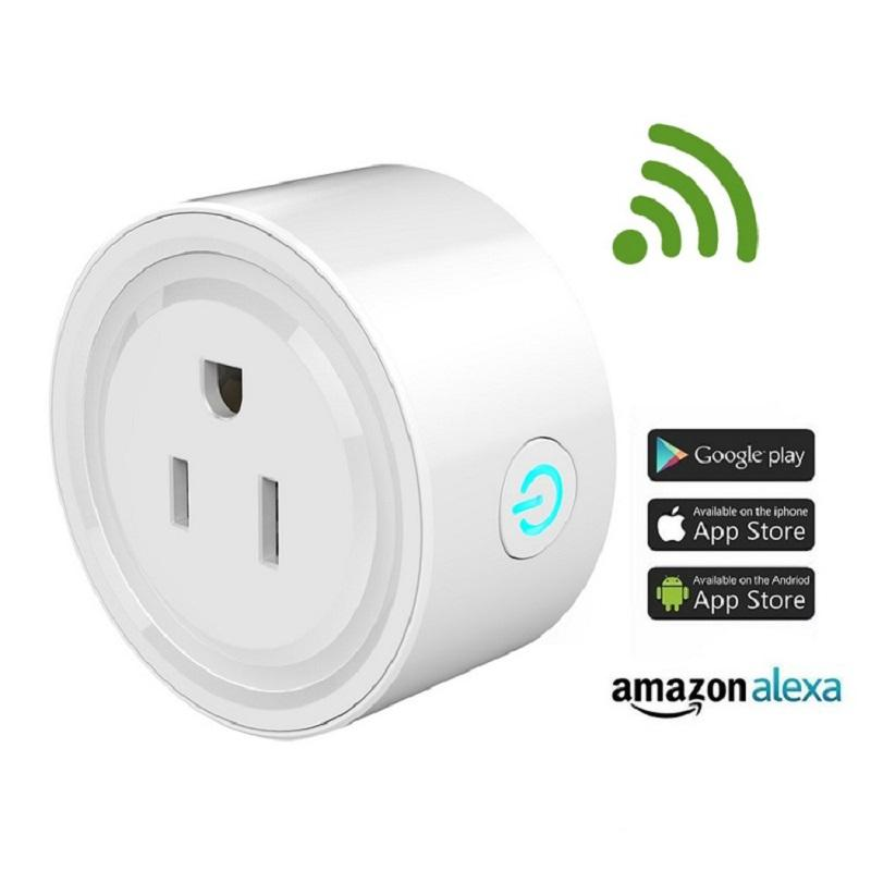 Smart home mini Socket WiFi Outlet 10A Compatible with Alexa Google Assistant voice control smart plugs usa wifi