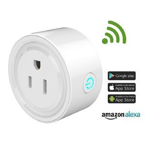 Google Home 1 Pack 100-240V EU Standard 16A WiFi Remote Control Smart Plug Outlet Heavy Duty Voice Control Mini Smart Plug Switch Wireless Home Automation Plug Socket Compatible with Alexa