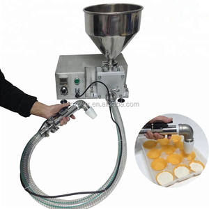 Food Shop Tabletop Depositor Chocolate Bread Depositor,Hand Held Cream Filler Biscuit Depositor Machine
