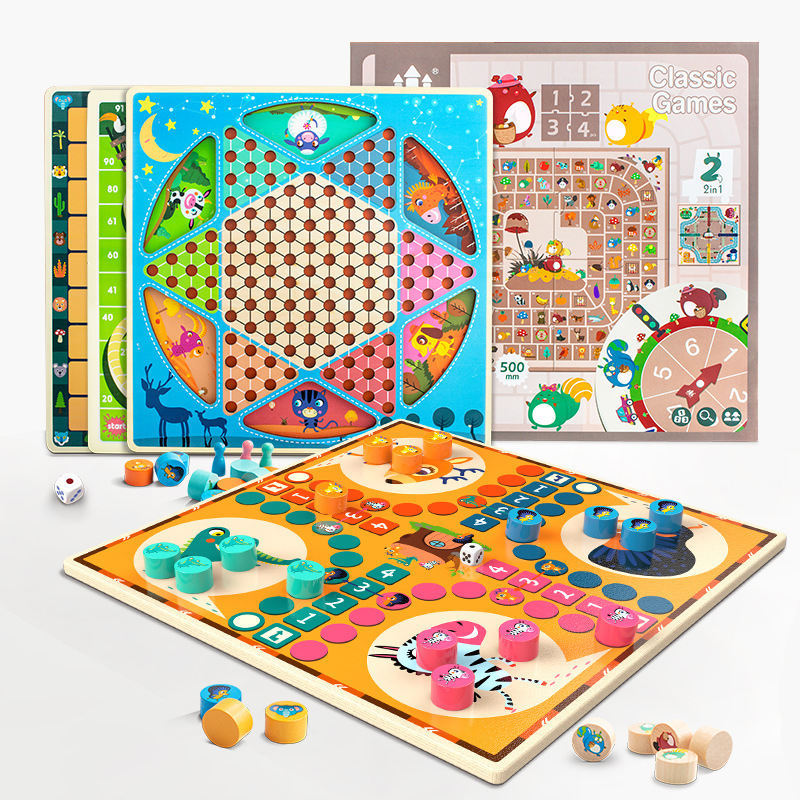 Kids Chinese <span class=keywords><strong>Checkers</strong></span> Drie In Een Game Board Schaken