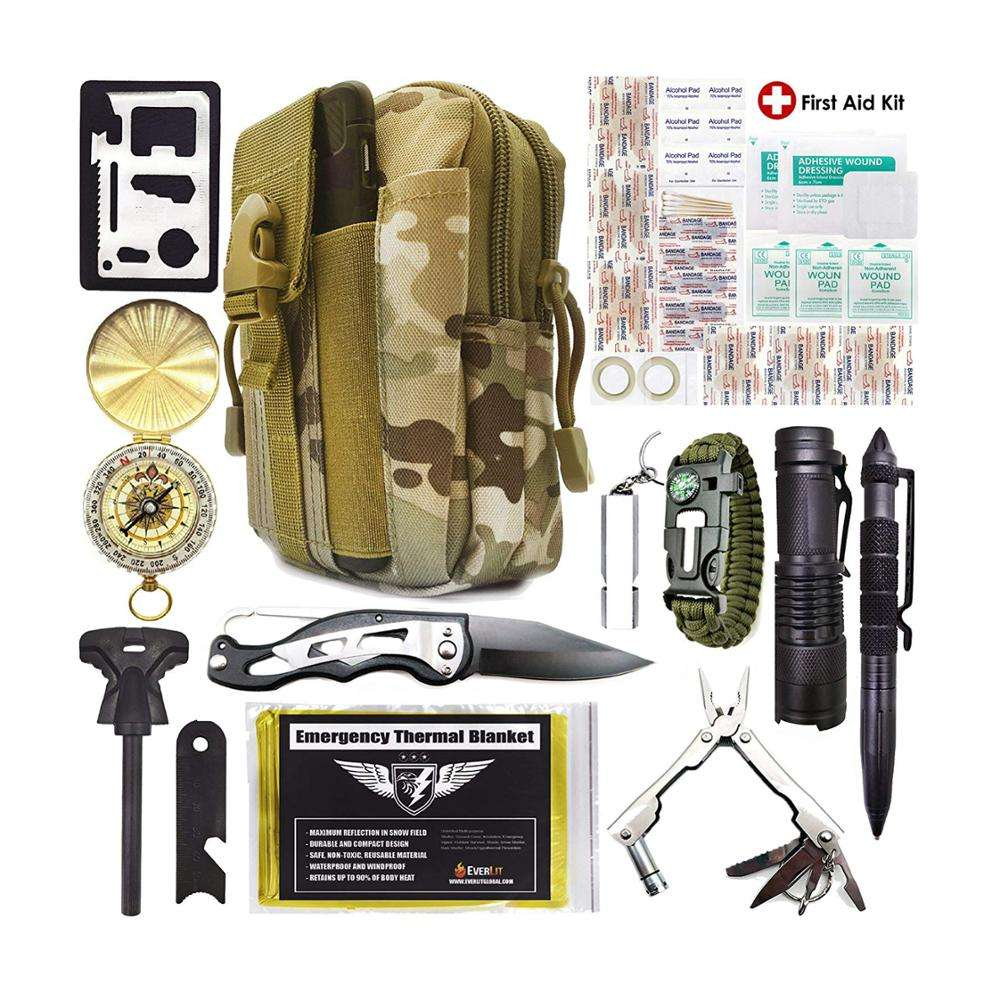 China Hersteller liefern Private Label Survival Kit Camping & Survival Kit Set