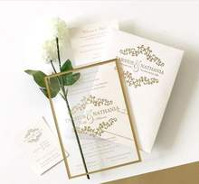Customized Luxury UV Printing Frost Blank Acrylic Wedding Invitation Card