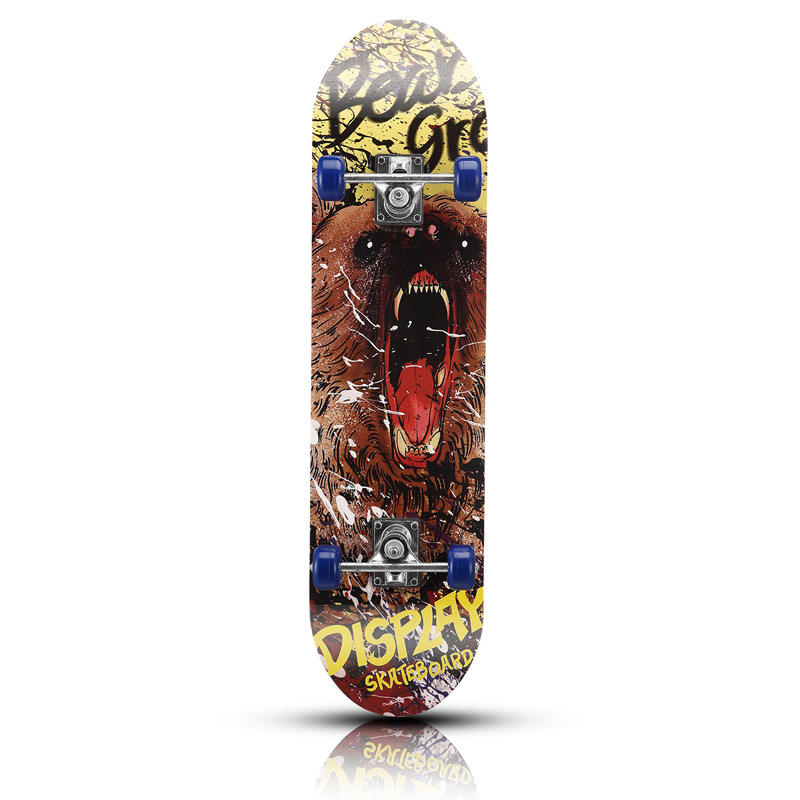 Custom print 100% canadian maple skateboard complete deck Boys Girls Youths Beginners Skateboard