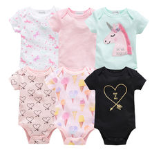 Wholesale Newborn Baby Girls Boys Clothes 3 pcs/set Short Sleeve Cotton Body Baby Romper