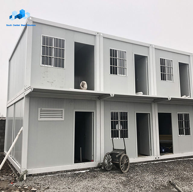 Low cost portable prefab container house construction material apartments porta cabin for south africa