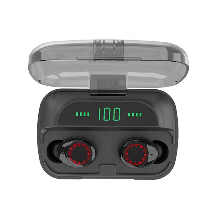 Red Eyes Touch Control Custom Logo Stereo TWS True Wireless Earbuds Bluetooth 5.0 Headphone Earphone