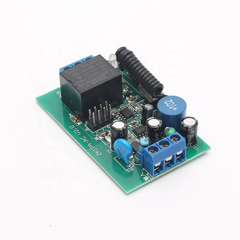 433 MHZ AC110-220V Kode Belajar Remote Kontrol Nirkabel Switch 1-Channel Relay Modul Penerima Rendah RF Antena Radiatio