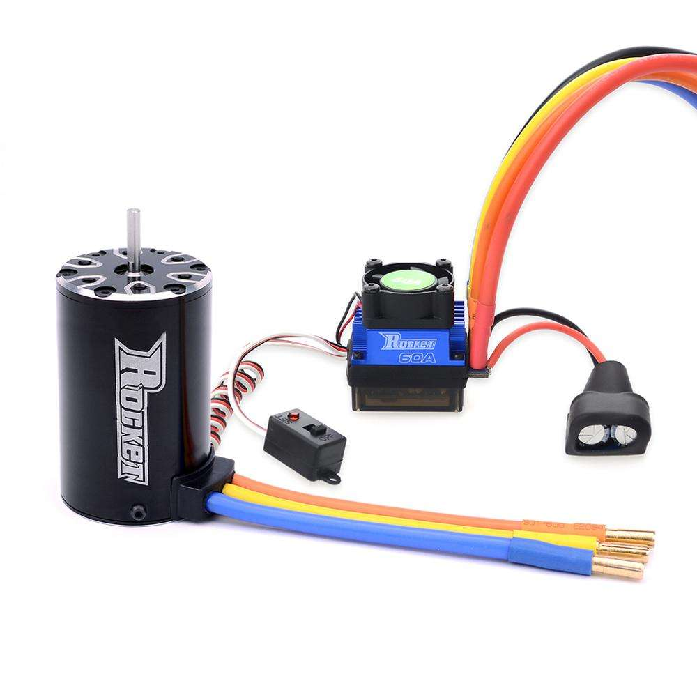 Surpass hobby Rocket 550 Sensorless motor engine brushless motor combo esc 60a remote control car toys parts