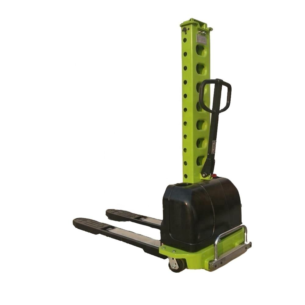 Hot sale small semi electric portable self loading pallet lifter innolift stacker with 500kg capacity
