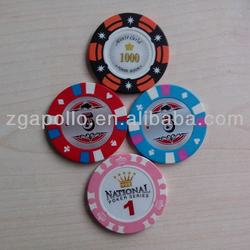 cheap plastic Embossede Token Coin/chips