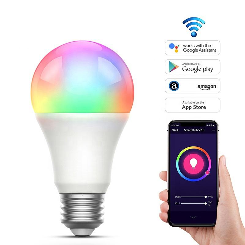 Trending Producten 2021 Nieuwkomers Rgbcw Multi-color Oem Odm 9W Wifi Smart Led Lampen Lights Lamp Led gloeilampen