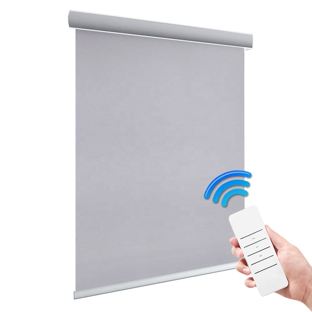Office cassette electric wifi motorized battery diy window roller blinds and curtains