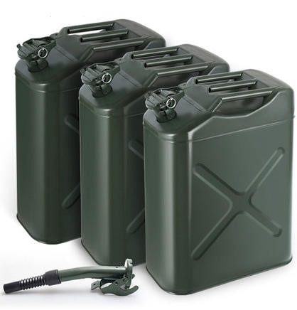 5 liter Jerrycan Gas Brandstof Staal Tank Groene Militaire NATO Stijl 20L Olie Opslag Drum