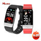 T1s Ftiness Tracker Bracelet Smartwatch Waterproof Heart Rate Body Temperature Watch Bluetooth Smart Watch Android