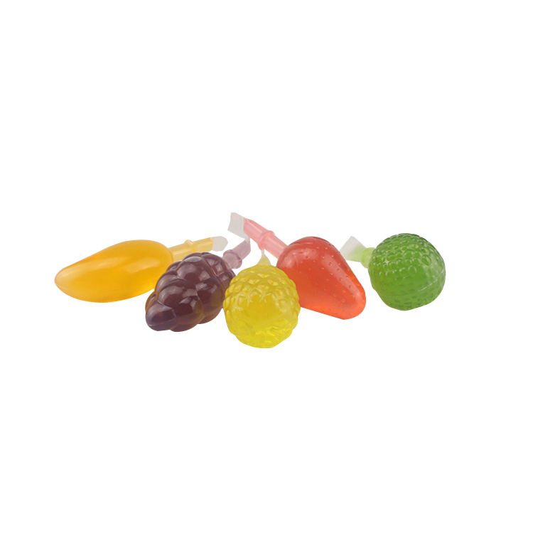 Wholesale Assorted Colorful Mini Fruit Flavors Jelly Bite For Children's Snacks With Zero Calorie