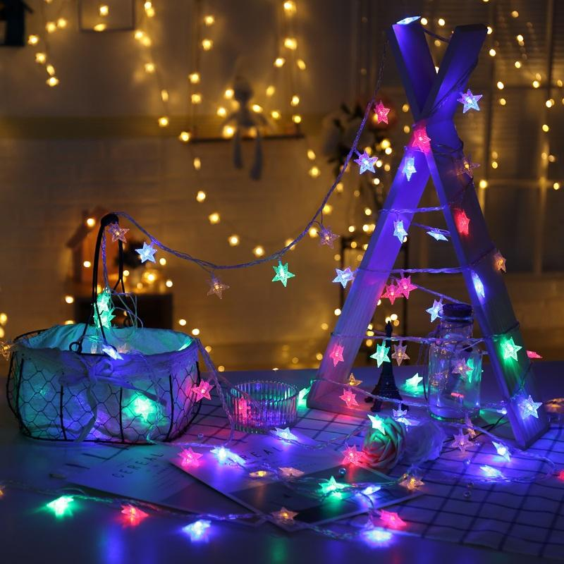 10 LED Star Fairy Lights USB Powered Twinkle Lights Indoor Outdoor Bedroom Wall Decor Home, Party, Christmas, Wedding,