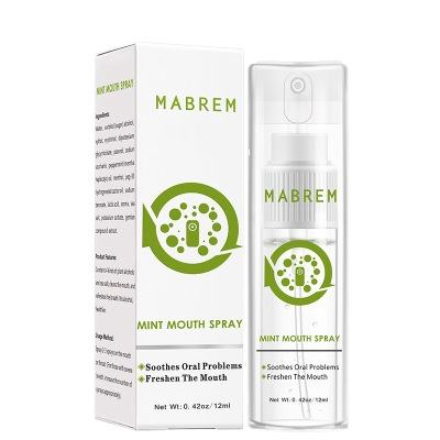 Mabrem <span class=keywords><strong>spray</strong></span> refrescante rápido 12ml, <span class=keywords><strong>spray</strong></span> <span class=keywords><strong>de</strong></span> remoção <span class=keywords><strong>de</strong></span> odor oral e <span class=keywords><strong>de</strong></span> <span class=keywords><strong>hortelã</strong></span>, refrescante
