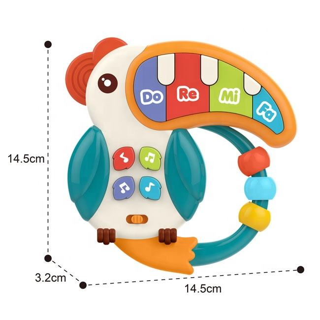 Parrot music instrument electronic organ baby musical toys cute toy electronic organ with light and music