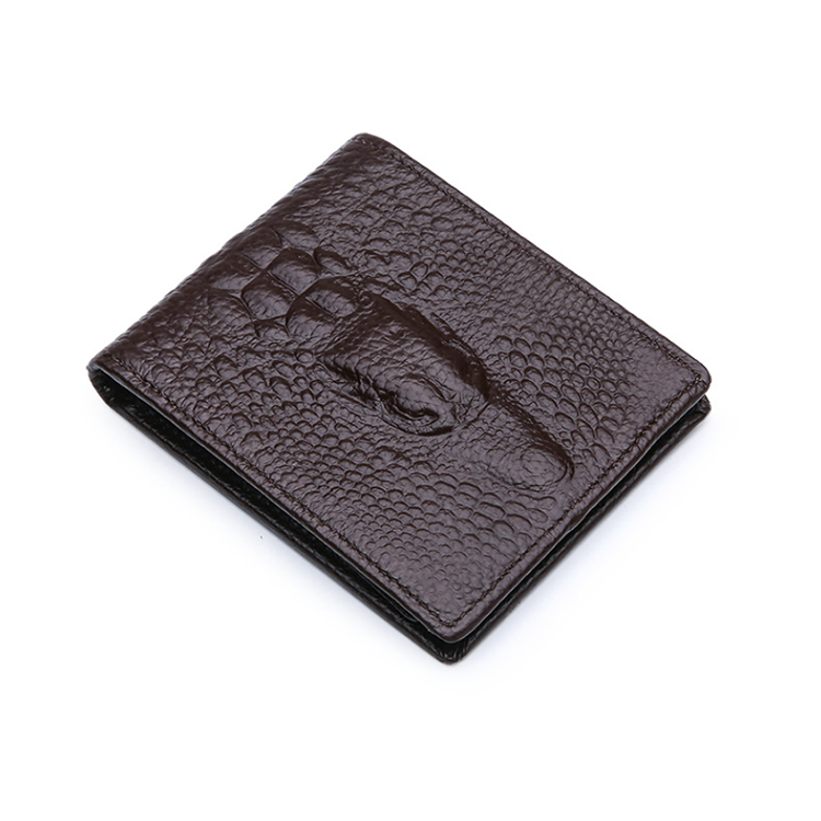 colorful hot selling vintage genuine crocodile leather card wallet for men