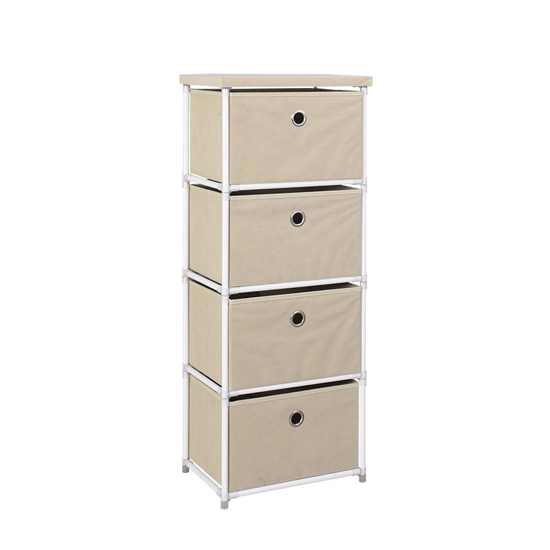 4 Industrial Furniture Chinese Black Style Rattan Lacquer Canvas Chest Of Craft Drawers Cabinet
