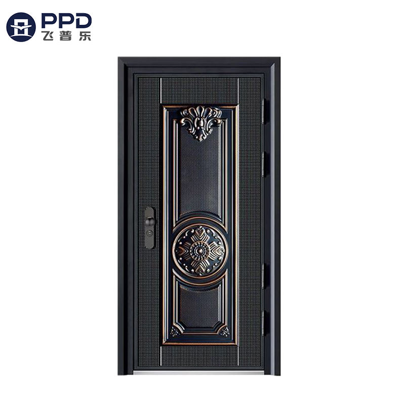 2020 China Hot Sale Israel Open Style Steel Security Door American Style Apartment Exterior Anti Theft Door