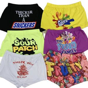 wholesale women high waist 43 different styles candy snack printed shorts vendor
