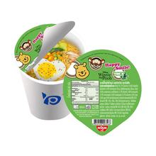 Packaging food die cut stickers plastic container with lid seal