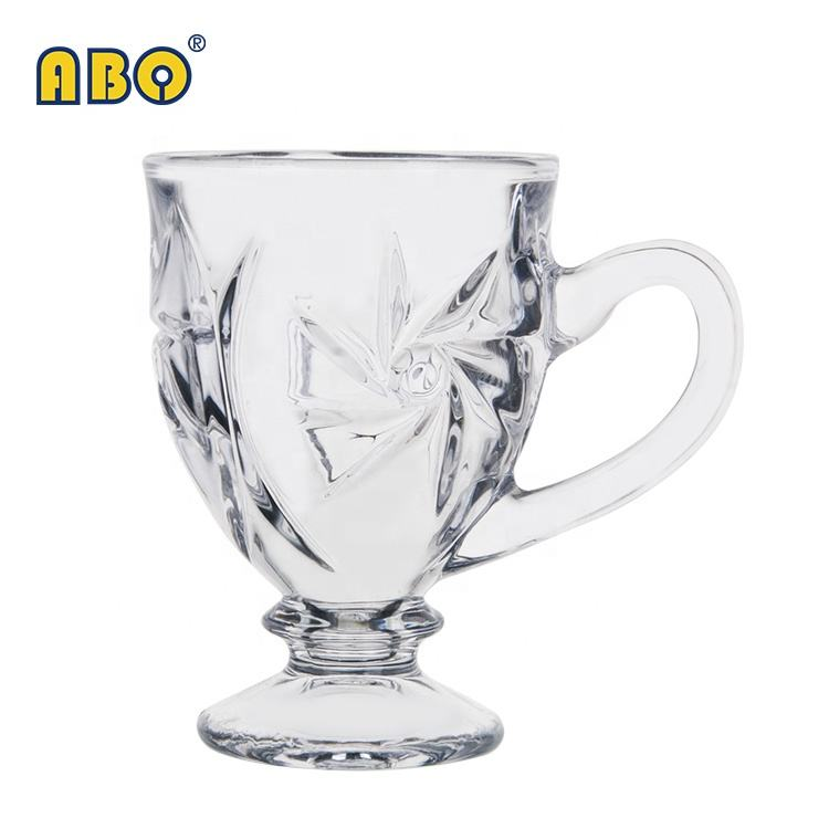 19YRS Glass-trade-focused History Elegant classic style transparent glass small black tea coffee cup set