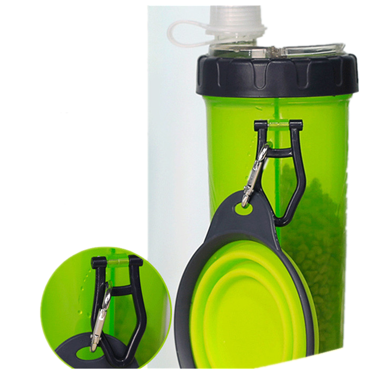 Dropshipping 2 in 1 pet food water container pet water bottle feeding bowl outdoor travel portable dog feeding cup
