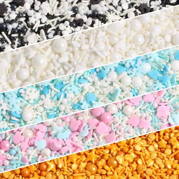 Wholesale mixed size sprinkles candy for cake decoration
