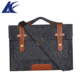 Amazon best seller high quality leather shoulder bag durable felt laptop bag for unisex