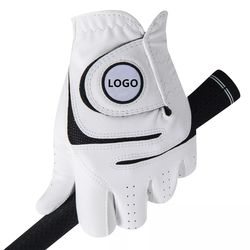 High quality AAA grade custom logo goatskin leather cabretta leather golf gloves