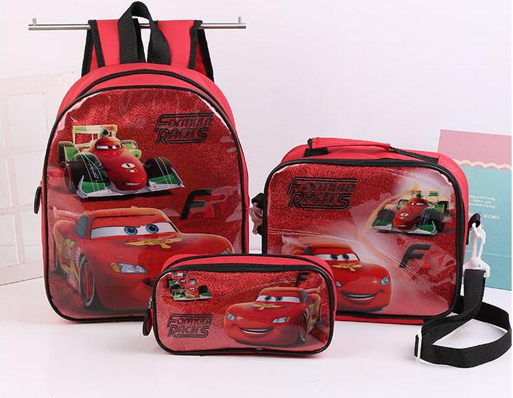 3D Kids funny school bags and lunch bag set wholesale
