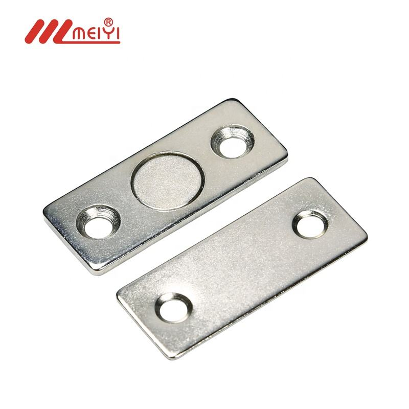 Strong ultra-thin invisible door cabinet magnetic Thin Magnet Latches for Sliding Doors