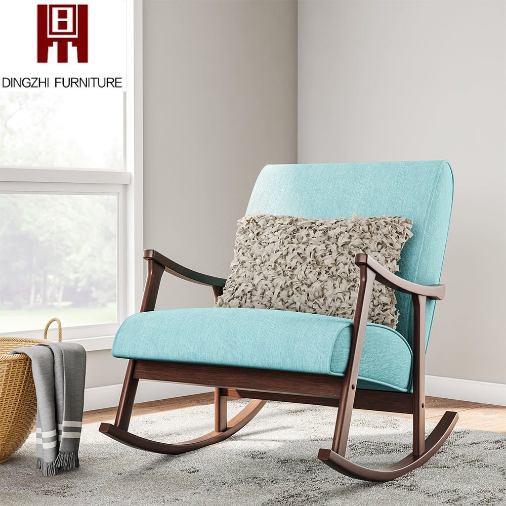 French Luxury Modern Solid Wood Armchair Living Room Furniture Tufted Fabric Upholstered Accent Club Tub Leisure Chair Indoor