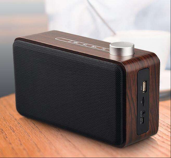 Wooden Speaker in combination Bookshelf Speakers subwoofer portable wireless boombox PC/TV with Support TF card