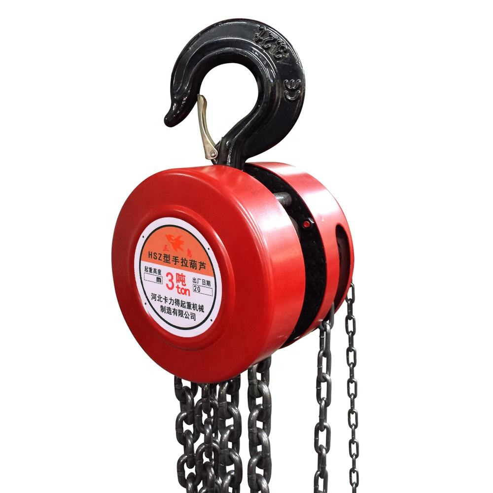 small construction lift tools HSZ hand chain hoist 3TON