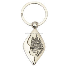 St.Petersburg Tourism Souvenirs Metal Custom Keyring Saint Petersburg Keychain